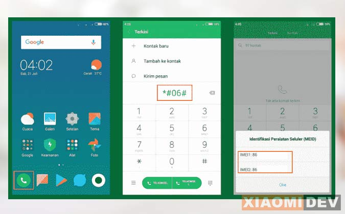How to check Xiaomi IMEI
