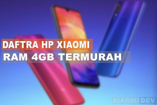 Hp Xiaomi RAM 4GB Termurah