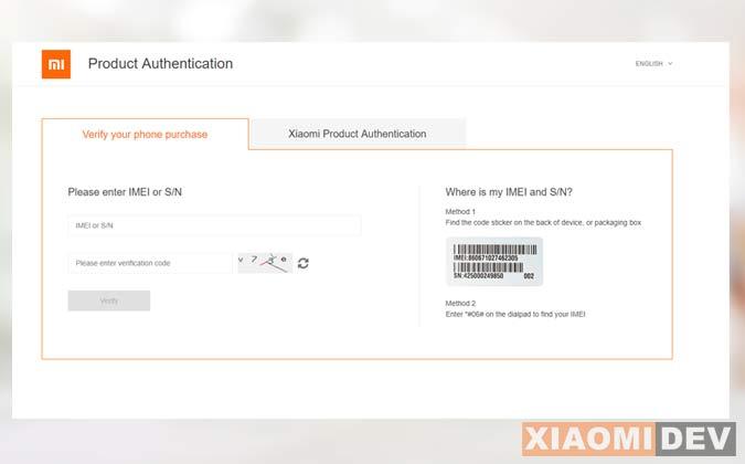Situs Cek IMEI Xiaomi