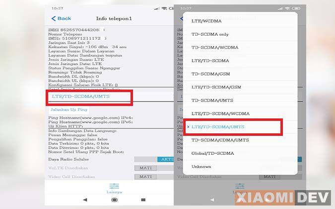 Memunculkan Sinyal 4G HP Xiaomi