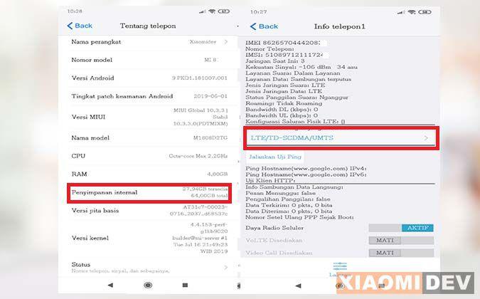 Sinyal 4G HP Xiaomi Tidak Muncul