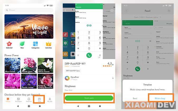 Tutorial Ganti Font HP Xiaomi MIUI 10