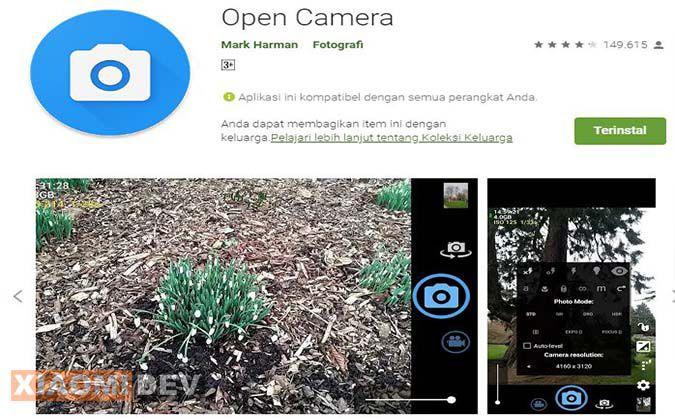 Aplikasi Open Kamera