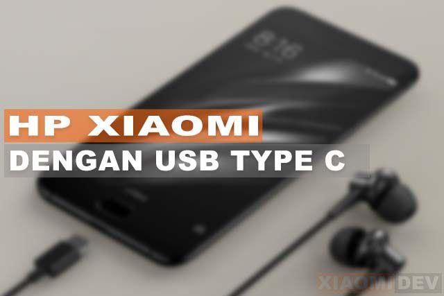 HP Xiaomi Dengan USB Type C