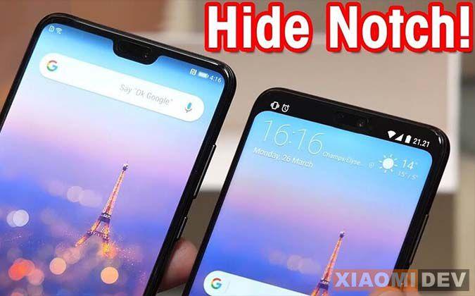 Hilangkan Notch Di Xiaomi