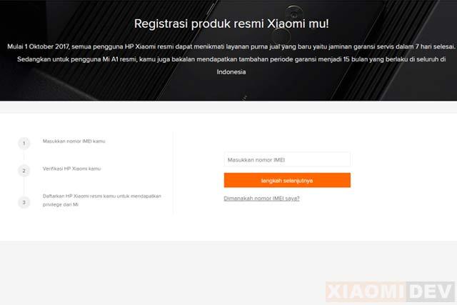 Cara Cek Garansi Xiaomi Online