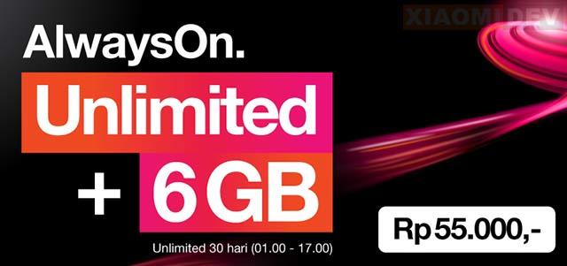 Paket Internet Unlimited 3