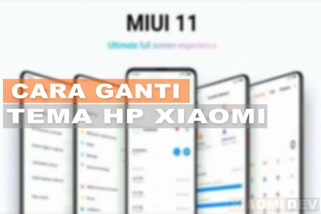 Cara Ganti Tema HP Xiaomi