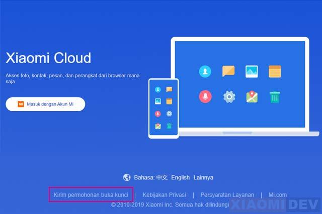 Permohonan Buka Kunci Xiaomi