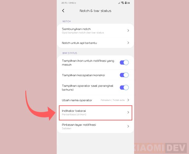 Cara Menampilkan Indikator Baterai Hp Xiaomi