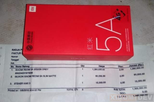Nota Pembelian Hp Xiaomi