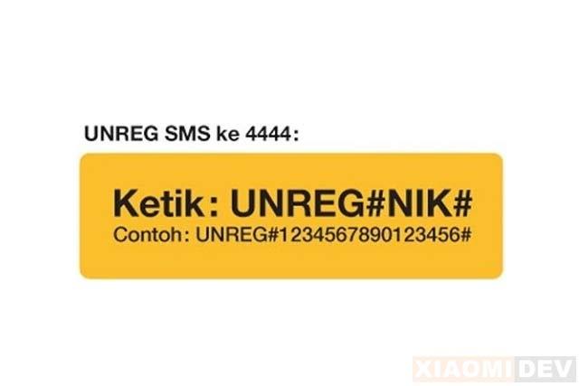 Cara Unreg Kartu 3 Lewat SMS
