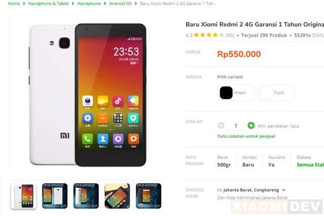 Hp Xiaomi Harga 500 Ribuan Redmi 2