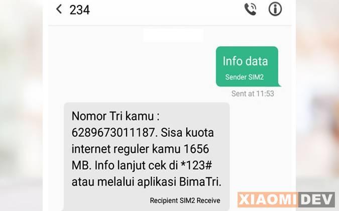 Via SMS
