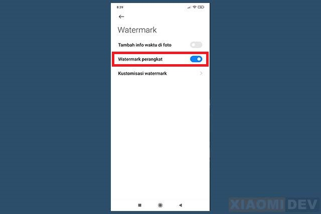 Watermark On Xiaomi