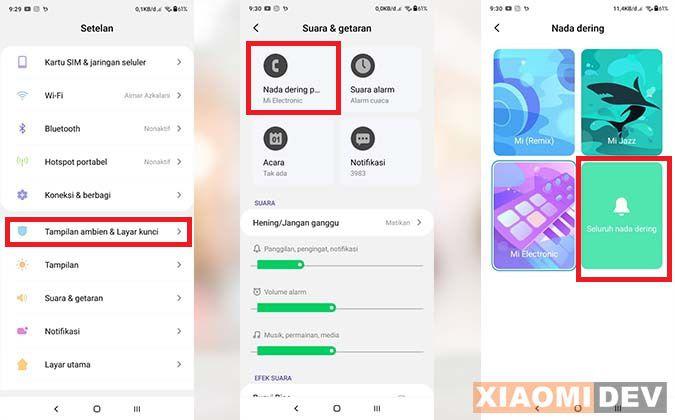 Cara Mengganti Nada Dering HP Xiaomi