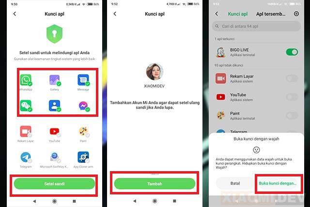 Mengunci Aplikasi Di Xiaomi