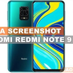 cara shreenshot Xiaoami redmi note 9