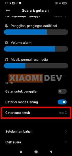 Cara Mematikan Getaran Keyboard Xiaomi